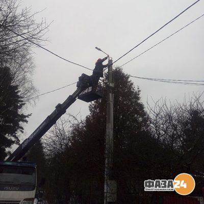 монтаж уличного освещения СНТ